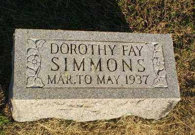 SIMMONS, DOROTHY FAY - Clay County, Arkansas | DOROTHY FAY SIMMONS - Arkansas Gravestone Photos