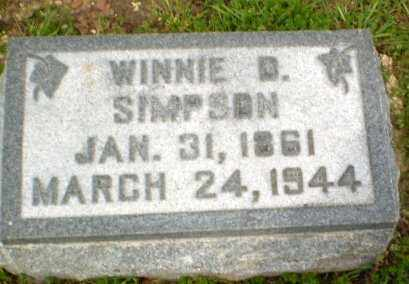 SIMPSON, WINNIE D - Clay County, Arkansas | WINNIE D SIMPSON - Arkansas Gravestone Photos