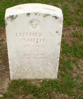 SMITH  (VETERAN), LUTHER S - Clay County, Arkansas | LUTHER S SMITH  (VETERAN) - Arkansas Gravestone Photos