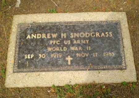 SNODGRASS  (VETERAN WWII), ANDREW - Clay County, Arkansas | ANDREW SNODGRASS  (VETERAN WWII) - Arkansas Gravestone Photos