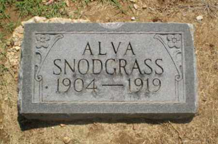 SNODGRASS, ALVA - Clay County, Arkansas | ALVA SNODGRASS - Arkansas Gravestone Photos