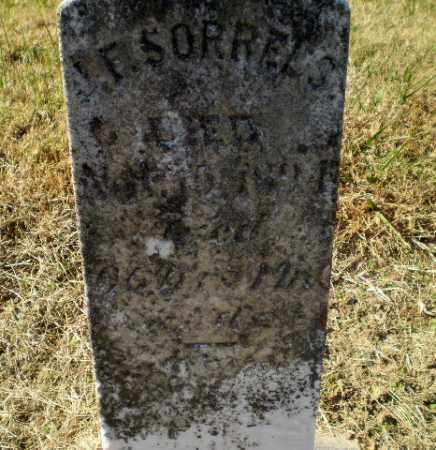SORRELS, J.F. - Clay County, Arkansas | J.F. SORRELS - Arkansas Gravestone Photos