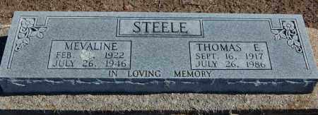 COOK STEELE, MEVALINE - Clay County, Arkansas | MEVALINE COOK STEELE - Arkansas Gravestone Photos