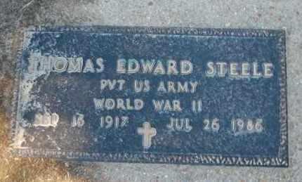 STEELE (VETERAN WWII), THOMAS EDWARD - Clay County, Arkansas | THOMAS EDWARD STEELE (VETERAN WWII) - Arkansas Gravestone Photos