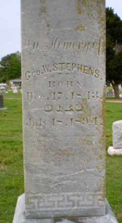 STEPHENS, GEO. W - Clay County, Arkansas | GEO. W STEPHENS - Arkansas Gravestone Photos
