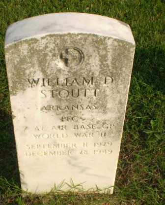 STOUTT  (VETERAN WWII), WILLIAM D - Clay County, Arkansas | WILLIAM D STOUTT  (VETERAN WWII) - Arkansas Gravestone Photos