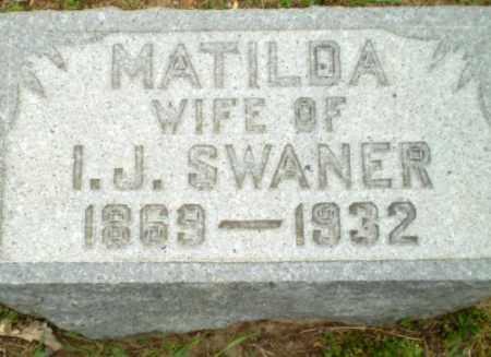 SWANER, MATILDA - Clay County, Arkansas | MATILDA SWANER - Arkansas Gravestone Photos