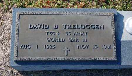 TRELOGGEN (VETERAN WWII), DAVID B - Clay County, Arkansas | DAVID B TRELOGGEN (VETERAN WWII) - Arkansas Gravestone Photos