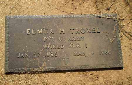 TROXEL  (VETERAN WWI), ELMER H - Clay County, Arkansas | ELMER H TROXEL  (VETERAN WWI) - Arkansas Gravestone Photos