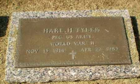TYLER  (VETERAN WWII), HARL H - Clay County, Arkansas | HARL H TYLER  (VETERAN WWII) - Arkansas Gravestone Photos