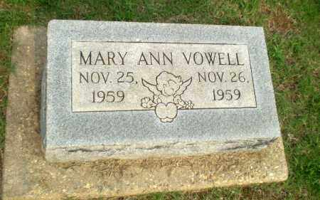 VOWELL, MARY ANN (INFANT) - Clay County, Arkansas | MARY ANN (INFANT) VOWELL - Arkansas Gravestone Photos