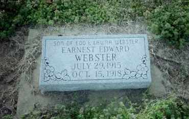 WEBSTER, EARNEST EDWARD - Clay County, Arkansas | EARNEST EDWARD WEBSTER - Arkansas Gravestone Photos