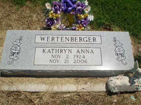 WERTENBERGER, KATHRYN ANNA - Clay County, Arkansas | KATHRYN ANNA WERTENBERGER - Arkansas Gravestone Photos
