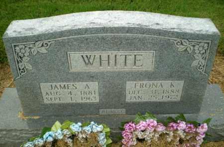 WHITE, JAMES A - Clay County, Arkansas | JAMES A WHITE - Arkansas Gravestone Photos