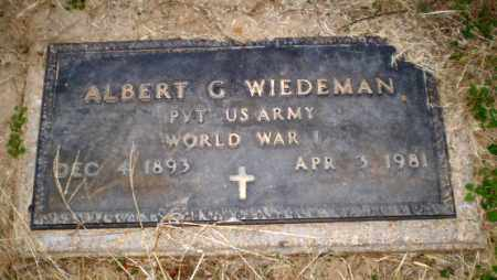 WIEDEMAN  (VETERAN WWI), ALBERT G - Clay County, Arkansas | ALBERT G WIEDEMAN  (VETERAN WWI) - Arkansas Gravestone Photos