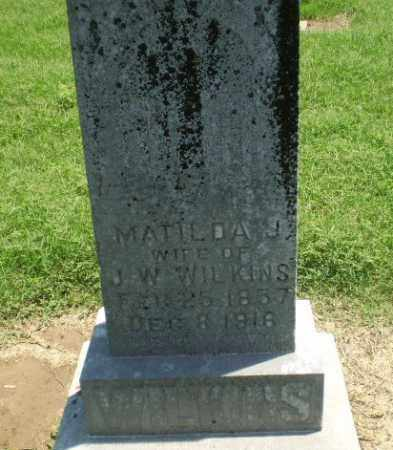 WILKINS, MATILDA J - Clay County, Arkansas | MATILDA J WILKINS - Arkansas Gravestone Photos