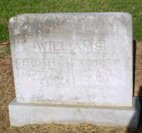 WILLIAMS, ELIZABETH - Clay County, Arkansas | ELIZABETH WILLIAMS - Arkansas Gravestone Photos