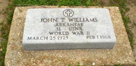 WILLIAMS  (VETERAN WWII), JOHN T - Clay County, Arkansas | JOHN T WILLIAMS  (VETERAN WWII) - Arkansas Gravestone Photos
