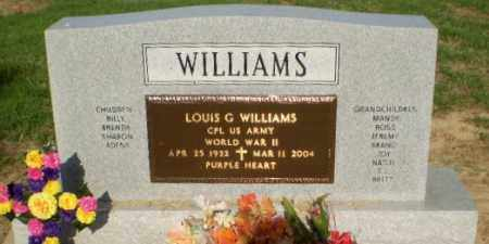 WILLIAMS (VETERAN WWII), LOUIS G - Clay County, Arkansas | LOUIS G WILLIAMS (VETERAN WWII) - Arkansas Gravestone Photos