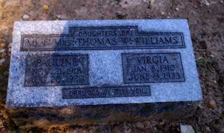 WILLIAMS, VIRGIA - Clay County, Arkansas | VIRGIA WILLIAMS - Arkansas Gravestone Photos
