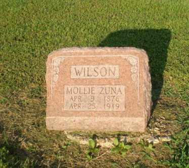 WILSON, MOLLIE ZUNA - Clay County, Arkansas | MOLLIE ZUNA WILSON - Arkansas Gravestone Photos