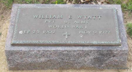 WYATT  (VETERAN WWI), WILLIAM E - Clay County, Arkansas | WILLIAM E WYATT  (VETERAN WWI) - Arkansas Gravestone Photos