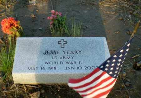 YEARY  (VETERAN WWII), JESSE - Clay County, Arkansas | JESSE YEARY  (VETERAN WWII) - Arkansas Gravestone Photos