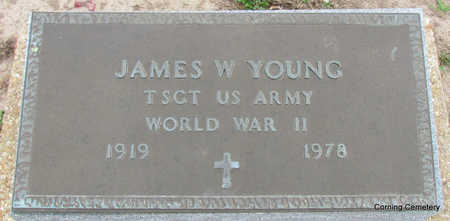 YOUNG  (VETERAN WWII), JAMES W - Clay County, Arkansas | JAMES W YOUNG  (VETERAN WWII) - Arkansas Gravestone Photos