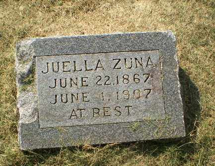 ZUNA, JUELLA - Clay County, Arkansas | JUELLA ZUNA - Arkansas Gravestone Photos