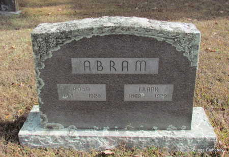 ABRAM, FRANK - Cleburne County, Arkansas | FRANK ABRAM - Arkansas Gravestone Photos