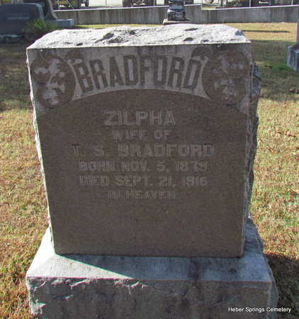 RICHARDSON BRADFORD, ZILPHA - Cleburne County, Arkansas | ZILPHA RICHARDSON BRADFORD - Arkansas Gravestone Photos