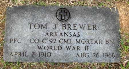BREWER (VETERAN WWII), TOM J. - Cleburne County, Arkansas | TOM J. BREWER (VETERAN WWII) - Arkansas Gravestone Photos