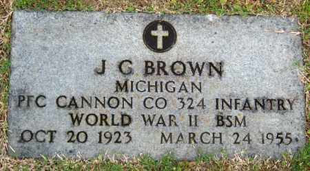 BROWN  (VETERAN WWII), J. G. - Cleburne County, Arkansas | J. G. BROWN  (VETERAN WWII) - Arkansas Gravestone Photos