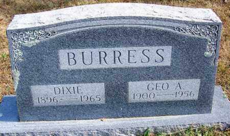 BURRESS, GEORGE A - Cleburne County, Arkansas | GEORGE A BURRESS - Arkansas Gravestone Photos