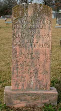 CARGILE, SARAH E. - Cleburne County, Arkansas | SARAH E. CARGILE - Arkansas Gravestone Photos