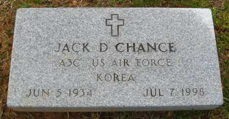 CHANCE (VETERAN KOR), JACK D. - Cleburne County, Arkansas | JACK D. CHANCE (VETERAN KOR) - Arkansas Gravestone Photos