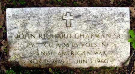 CHAPMAN, SR (VETERAN SAW), JOHN RICHARD - Cleburne County, Arkansas | JOHN RICHARD CHAPMAN, SR (VETERAN SAW) - Arkansas Gravestone Photos