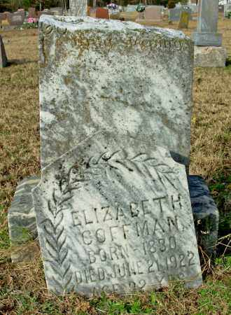 COFFMAN, ELIZABETH - Cleburne County, Arkansas | ELIZABETH COFFMAN - Arkansas Gravestone Photos