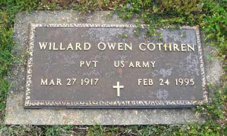COTHREN  (VETERAN), WILLARD OWEN - Cleburne County, Arkansas | WILLARD OWEN COTHREN  (VETERAN) - Arkansas Gravestone Photos