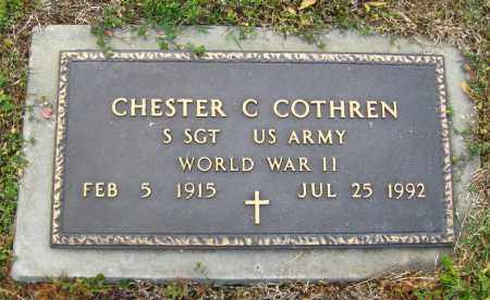 COTHREN (VETERAN WWII), CHESTER C. - Cleburne County, Arkansas | CHESTER C. COTHREN (VETERAN WWII) - Arkansas Gravestone Photos