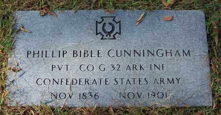 CUNNINGHAM (VETERAN CSA), PHILLIP BIBLE - Cleburne County, Arkansas | PHILLIP BIBLE CUNNINGHAM (VETERAN CSA) - Arkansas Gravestone Photos