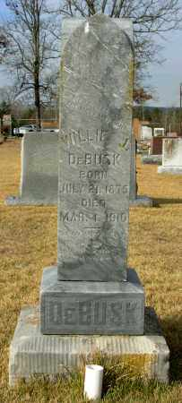 DEBUSK, WILLIE J. - Cleburne County, Arkansas | WILLIE J. DEBUSK - Arkansas Gravestone Photos
