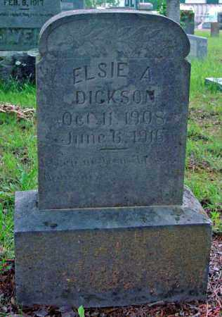 DICKSON, ELSIE A. (2 STONES) - Cleburne County, Arkansas | ELSIE A. (2 STONES) DICKSON - Arkansas Gravestone Photos