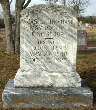 GRESHAM, LOVE JANE - Cleburne County, Arkansas | LOVE JANE GRESHAM - Arkansas Gravestone Photos