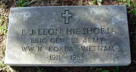 HIRSHORN (VETERAN 3 WARS), B. J. LEON - Cleburne County, Arkansas | B. J. LEON HIRSHORN (VETERAN 3 WARS) - Arkansas Gravestone Photos