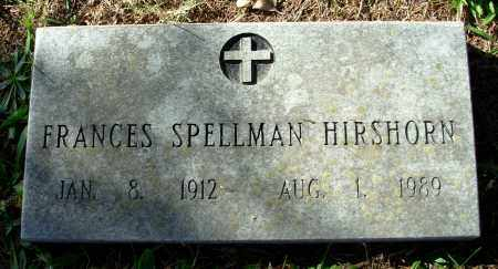 SPELLMAN HIRSHORN, FRANCES - Cleburne County, Arkansas | FRANCES SPELLMAN HIRSHORN - Arkansas Gravestone Photos