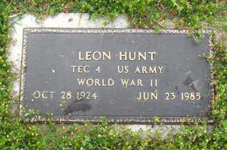 HUNT  (VETERAN WWII), LEON - Cleburne County, Arkansas | LEON HUNT  (VETERAN WWII) - Arkansas Gravestone Photos