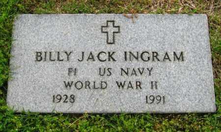 INGRAM (VETERAN WWII), BILLY JACK - Cleburne County, Arkansas | BILLY JACK INGRAM (VETERAN WWII) - Arkansas Gravestone Photos