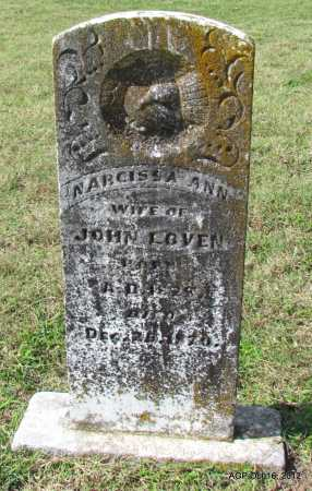 LOVEN, NARCISSA ANN - Cleburne County, Arkansas | NARCISSA ANN LOVEN - Arkansas Gravestone Photos