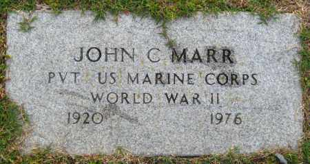 MARR  (VETERAN WWII), JOHN C - Cleburne County, Arkansas | JOHN C MARR  (VETERAN WWII) - Arkansas Gravestone Photos